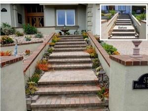 Anaheim Hills Stairway Succulents